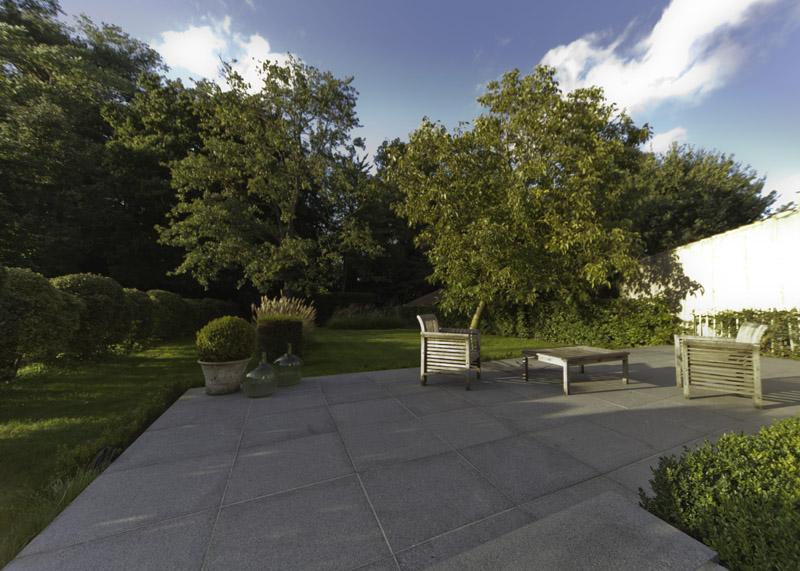 terrasse dalles grises arbrecreation jardin hazebrouck | Arbrecréation