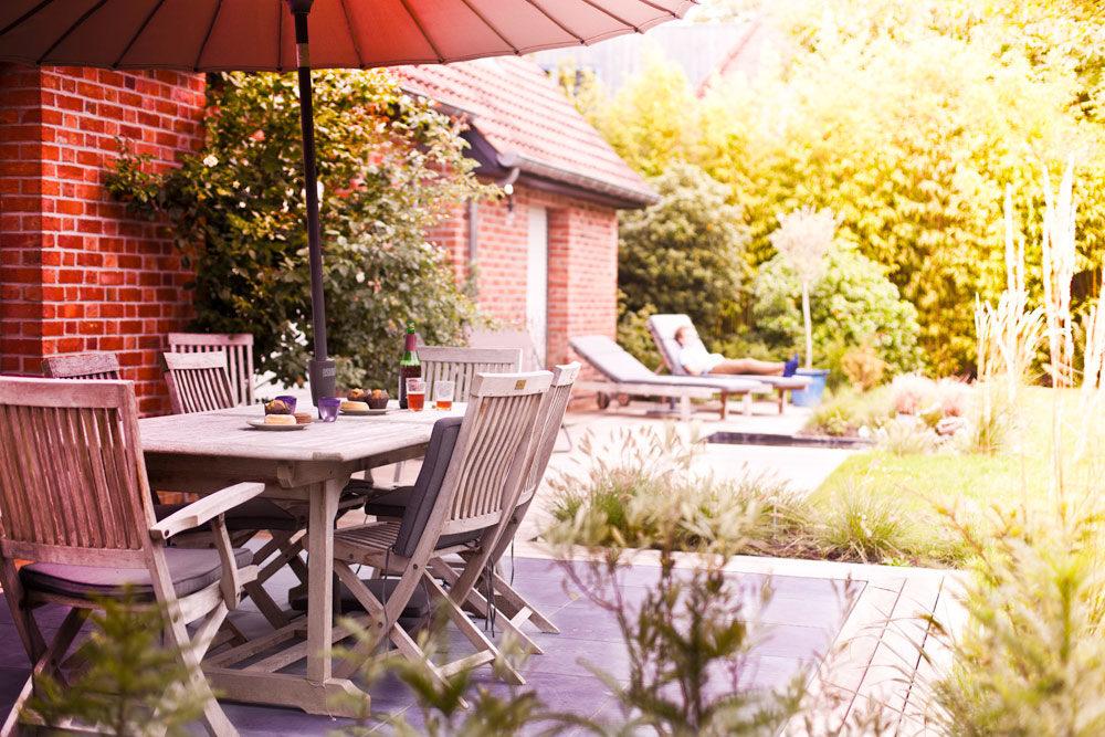 Terrasse en bois et pierre bleue à Lille | Arbrecréation